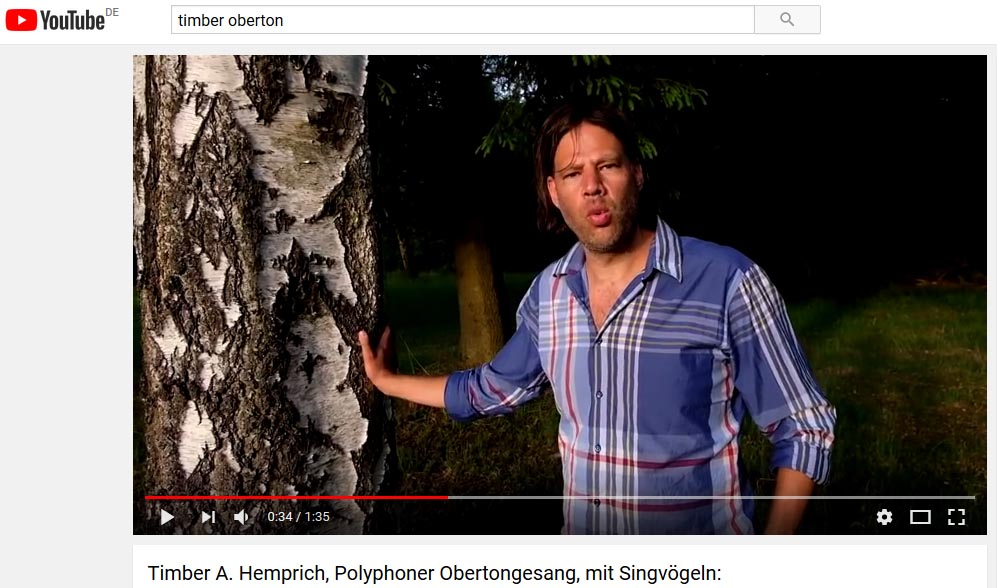Timber A. Hemprich Obertongesang Video Still